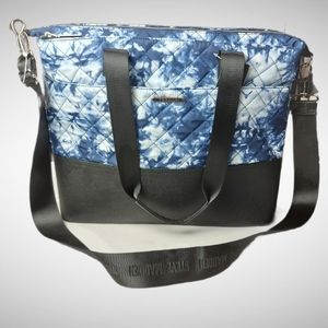 Steve Madden NWT Blue Quilted Tie Dye Travel Bag